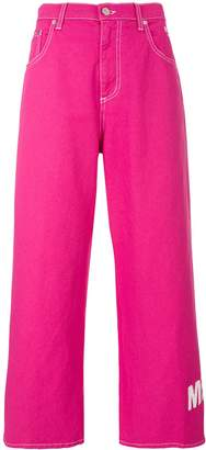 MSGM Fuchsia flared trousers