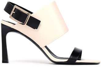 Roger Vivier Trompette Two-tone Leather Slingback Sandals