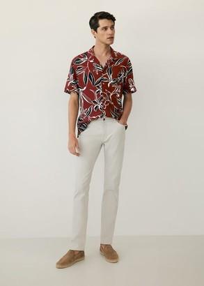 MANGO MAN - Slim-fit off-white Patrick jeans light/pastel grey - 28 - Men