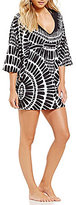 Trina Turk Algiers V-Neck Geometric Print Tunic Cover-Up