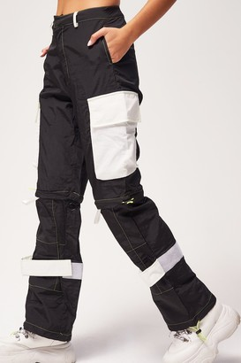 Jaded London Womens **Black Cargo Trousers By Black