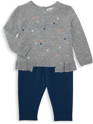 Splendid Baby Girl's 2-Piece Star-Embroidered Wool-Blend Sweater & Pants Set