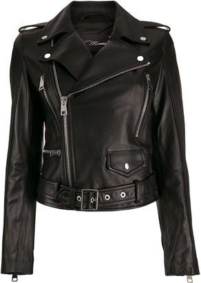 Manokhi fitted biker jacket