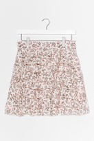 Thumbnail for your product : Nasty Gal Womens Ditsy Floral Tiered Ruffle Mini Skirt - White - 12