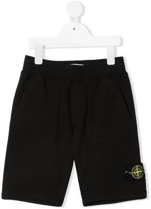 Stone Island Junior Logo-Patch Track Shorts