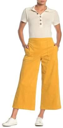 GOOD LUCK GEM Corduroy High-Waisted Wide Leg Crop Pants