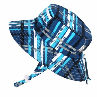 JAN & JUL Infant Sun-Hat for Baby Boy with Strap 50 UPF Protection (S: 0-6 Months
