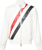 Thom Browne striped bomber jacket - men - Cotton/Polyester - I