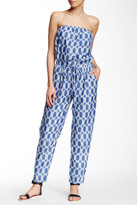 Velvet by Graham & Spencer Strapless Printed Jumpsuit