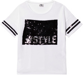 Mayoral White and Black Sequin #Style Tee