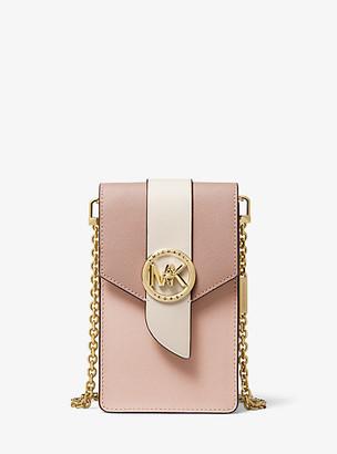 Michael Kors Small Tri-Color Saffiano Leather Smartphone Crossbody Bag