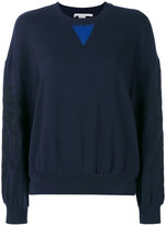 Stella McCartney leaf detail sweatshirt - women - Cotton - 40