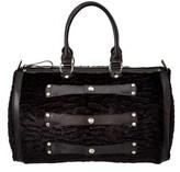 Longchamp Velvet & Leather Bowler.