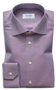 Eton Micro-Geo Contemporary Fit Dress Shirt