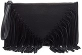 Sole Society Carmela clutch with suede fringe