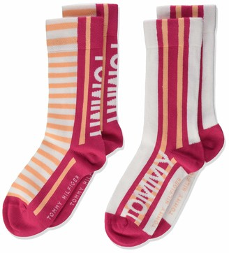 Tommy Hilfiger Girl's Th Kids Sock 2p Bold Stripe Calf
