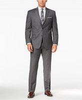 MICHAEL Michael Kors Men's Classic-Fit Gray Solid Flannel Suit