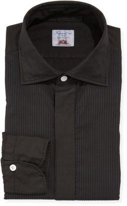 Finamore Men's Pleated Bib Tuxedo Shirt