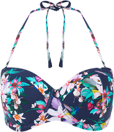 Accessorize Fuller Bust Eden Print Bandeau Bikini Top
