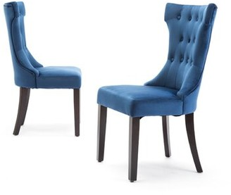 Charlton Home Scituate Premium Tufted Upholstered Side Chair Charlton Home Upholstery Color: Blue