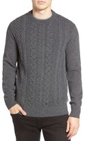 Ben Sherman Men's Cable Front Sweater