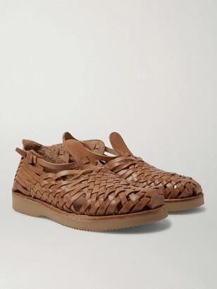 Yuketen Cruz Woven Leather Huarache Sandals