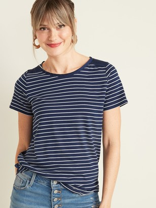 Old Navy Crew-Neck Satin-Back Tee for Women