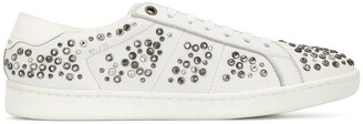 Saint Laurent SL/01 crystal stud embellished sneakers