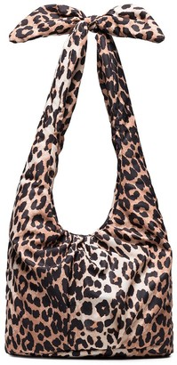 Ganni Leopard-Print Shoulder Bag