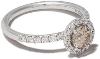 De Beers 18kt white gold Aura fancy coloured diamond ring