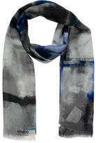 Armani Collezioni Abstract Printed Wool Scarf w/ Tags