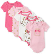 Juicy Couture Newborn Girls) 5-Pack Necklace Bodysuits