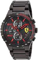 Ferrari Scuderia Men's Quartz and Stainless-Steel-Plated Casual Watch, Color:Black (Model: 830361)