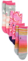 Stance Toddler Girl's Purdy Assorted 3-Pack Socks