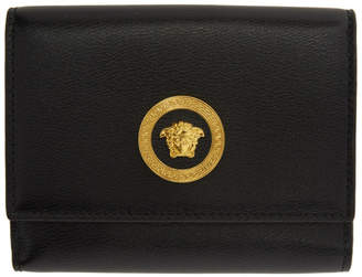 Versace Black Icon Coin Pouch Wallet