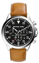 Michael Kors Gage Leather Military Watch