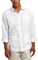 Cubavera Men's Long-Sleeve Embroidered Guayabera Shirt