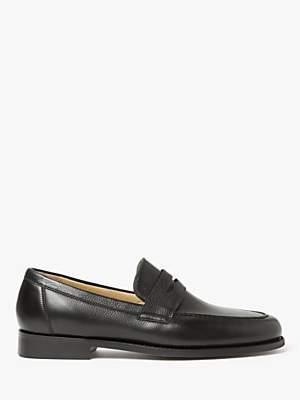 Barker Audley Leather Loafers, Black