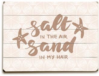 One Bella Casa Salt Air Sand Hair Planked Wood Wall Decor