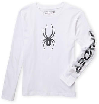 Spyder Boys 8-20) White Logo Arm Long Sleeve Tee