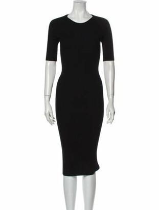 Alexander Wang Crew Neck Midi Length Dress Black