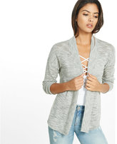 Express lightweight marled rounded hem cover-up
