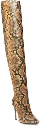 Steve Madden Winnie Harlow x Harlow Reptile Embossed Over the Knee Boot