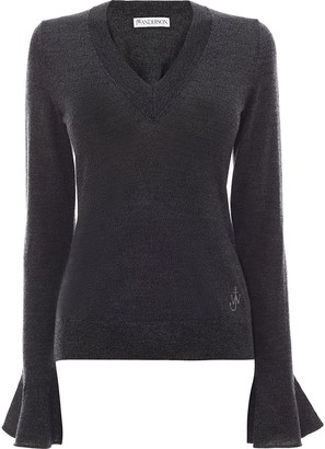 J.W.Anderson Flared-Cuff Wool Jumper