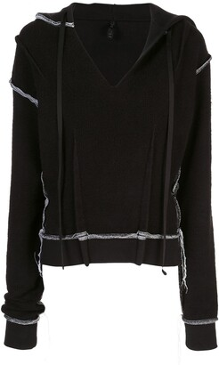 Unravel Project contrast stitch hoodie