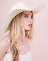 Missy Empire Jayde Cream Wide Brim Straw Hat