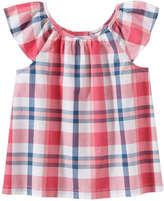 Joe Fresh Kid Girls' Pleat Top, Pink (Size XL)