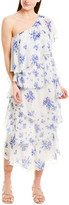 Rococo Sand One-Shoulder Silk Maxi Dress