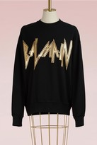 Balmain Cotton sweater with logo