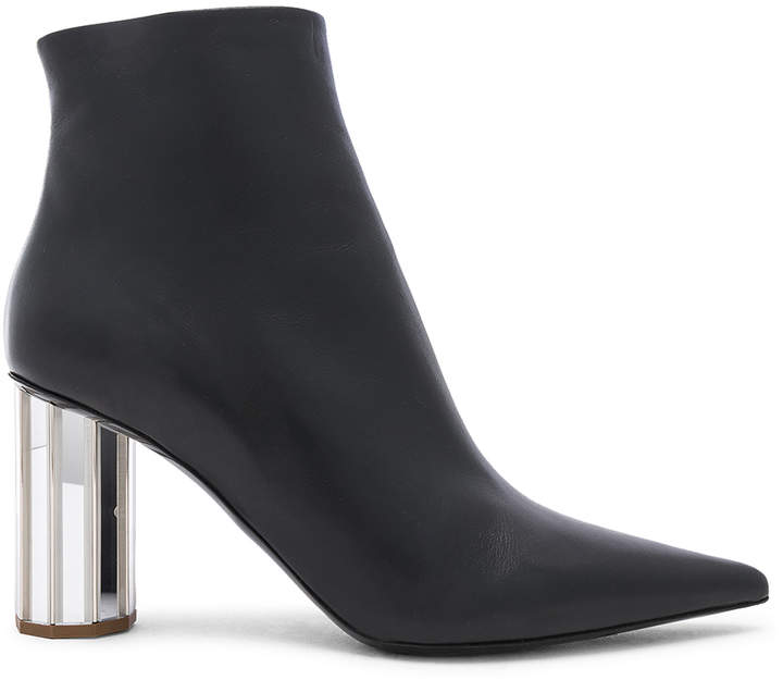 Proenza Schouler Mirror Heel Ankle Boots in Black & Silver | FWRD
